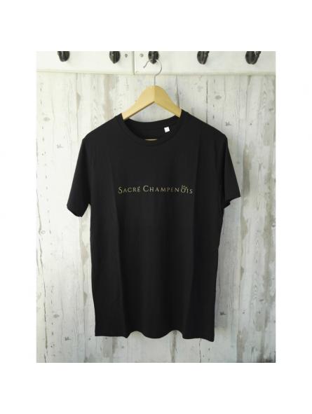 T-shirt noir Sacré Champenois