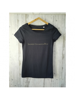 T-SHIRT noir Sacrée Champenoise