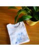 "T-shirt ""Mon p'tit bouchon"" bleu"