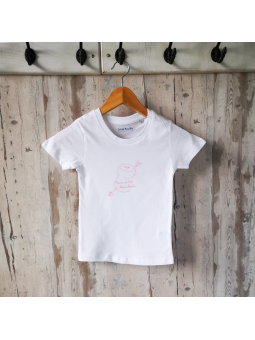 """T-shirt """"Mon p'tit bouchon"""" rose"""