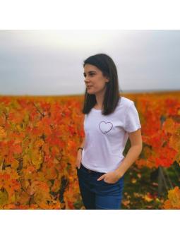 T-shirt femme Cœur champenoise