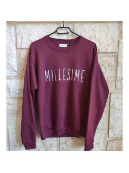 sweat bordeaux MILLESIME