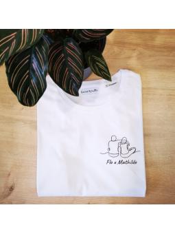 T-shirt femme LOVERS ( couple mixte)