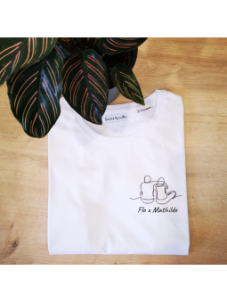T-shirt LOVERS ( couple mixte)