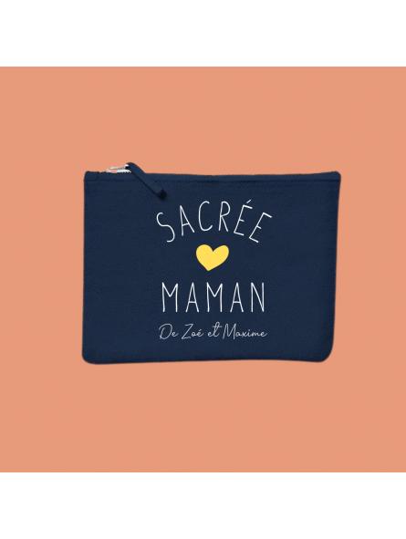 """Pochette """"Sacrée Maman"""" personnalisée prénoms"""