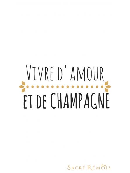Fond d'écran amour et champagne